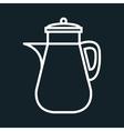 icon jar juice beverage design vector image