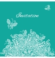invitation Blue background vector image