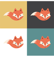 Red fox icon vector image