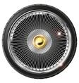 Retro wheel with spokes vector image