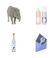tapir cream and other web icon in cartoon style vector image