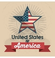 united states of america star icon vector image