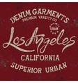 Vintage trademark with Los Angeles City text vector image