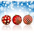 Christmas red balls vector image vector image