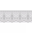 Handmade Lace material with classic ornaments vector image