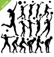 Women beach volleyball silhouettes vector image vector image