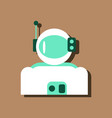 flat icon design collection astronaut suit in vector image vector image
