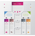 Multilevel infographic design template vector image vector image