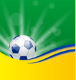 Football card in Brazil flag colors vector image vector image