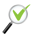 Magnified Check Mark vector image