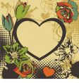 floral vector heart vector image