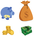 Capital icons vector image