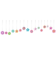 Hanging colorful flowers vector image