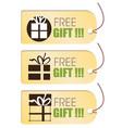 Free gift tag vector image vector image