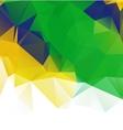 Brazil flag geometric background pattern vector image