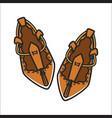 Bulgarian traditional ethnic woman shoes tsarvuli vector image