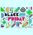 design poster for black friday sales vector image