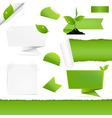 Eco Green Set vector image