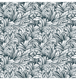 Floral monochrome ornamental seamless pattern vector image