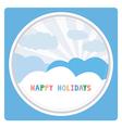 Happy holidays17 vector image