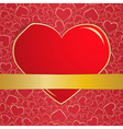 Invitation card on wedding eps10 vector image