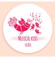 Music kids logo vector image