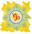 zodiac sign The Goat capricorn vector image