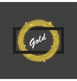 gold ring frame vector image vector image