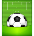 playing field ball green background soccer 10 v vector image vector image