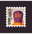 Halloween grave stamp vector image