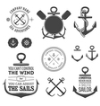 Set of nautical labels icons and design elements vector image vector image