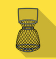 fishing net icon in flat style isolated on white vector image