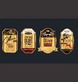 retro vintage golden olive oil background vector image