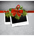 Christmas design with photos vector image