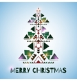 Christmass Tree on the blue background vector image