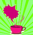 coffee poster pop art style vector image