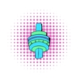 The CN Tower in Toronto icon comics style vector image