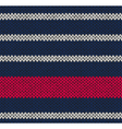 Marine Blue White Red Knitted vector image