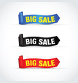 big sale sign set vector image