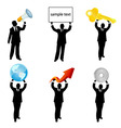 Businessman holding business vector image