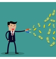 Businessman with magnet vector image