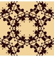 Design rorschach inkblot test Brown on yellow vector image