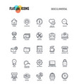 flat line icons design-basic and universal vector image