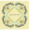 Floral ornate background vector image