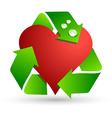 Save love symbol vector image