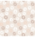 Seamless pattern with hand drawn grunge circles vector image