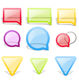 Set of glass style speech bubbles vector image