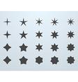 Set of stars vector image