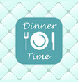 top view of dinner time elements vector image