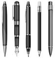 set pens 10 v vector image vector image